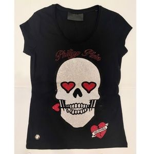 PHILIPP PLEIN Skull T-Shirt Sz S